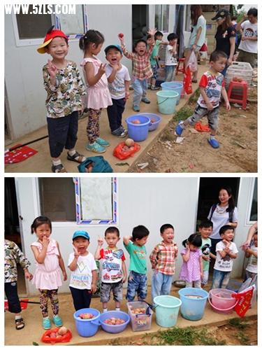 亲子 足迹/中午在华农梦泽园吃饭,饭前,孩子们由一位妈妈带领,学习折叠...